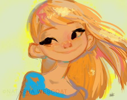 Sunny | 100 days of sketch by wescoatart