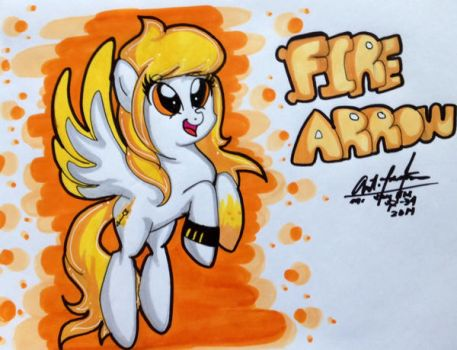 New Pony: Fire Arrow by Mr-skylineR34