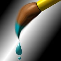 """Trickle """"Paint Brush"""" by 0-ASH-0"""