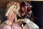BJD: Amelie and Holly by AnikoRi