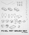 Pixel Art Brush Set by narvils