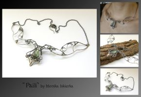 Paili- wire wrapped necklace by mea00