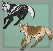 Wolf Adoptables 3$ -CLOSED- by ManiacalMonsterr