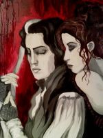 Sweeney Todd and Mrs. Lovett by Eidolette