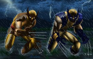 Daken and Logan by SWAVE18