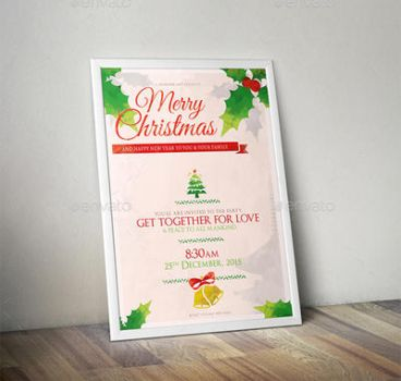 Christmas Flyer Poster Template by sktdesigns