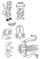 Monster doodles by JoePhatty