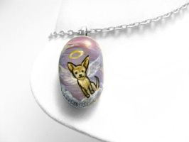 Chihuahua Pendant Necklace by sobeyondthis