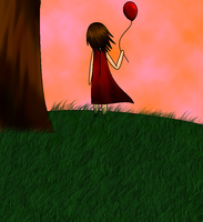The Lonely Little Balloon Girl by keithyboo