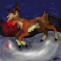 Rudolph the Red-Nosed Reindeer by MsPotato