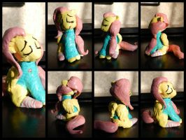 Sweater Fluttershy Clay Figure by nicolaykoriagin