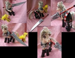 Final Fantasy X-2 Warrior Paine with Chocobo by LightningSilver-Mana