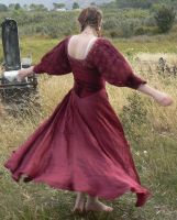 Graveyard - Red Dress - 07 by Gracies-Stock