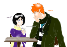 Rukia's birthday: A Drink For You by Naru-Nisa