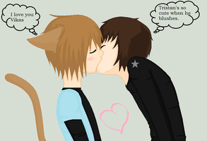 VikasXTristan KISS by BloodyRomantic661