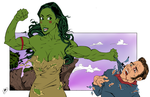 Pocahontas Hulk Out by DeathStrokeAC