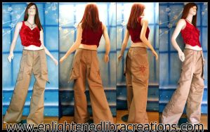 Earth Clan Embroidered Pants by RedheadThePirate
