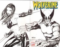 Wolverine sketch cover by Arciah