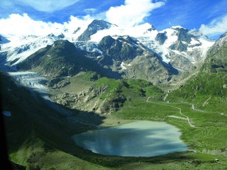 Switzerland -Glacier and Lake by AgiVega