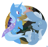 The two sides of Trixie by yaaaco