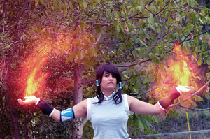 Avatar Legend of Korra fire bending by LadyDmc