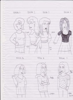 Lisa and Penelope Character Designs by MrKarnole-98