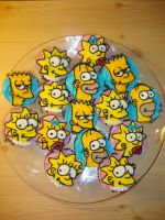 Simpson cupcakes by LizzyLix