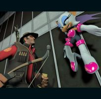 Rival Battle: Rouge vs Sniper by Pika-Robo