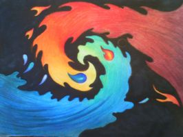 Fire and Water Yin Yang! by AmericanBlackSerpent
