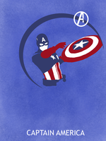 Captain America Poster by Mr-Saxon