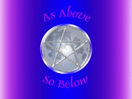 Pentacle Moon In Purple by LakesideMaiden