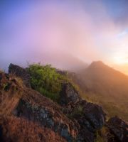 Indonesia misty mountain BG ii by little-spacey