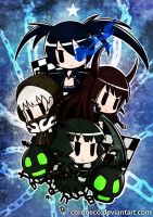 Black Rock Shooter Chibi by chroneco