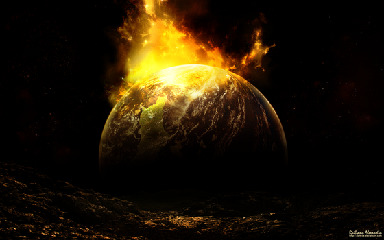 Burning Planet by IonFive