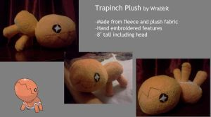 Trapinch Plush by theamazingwrabbit