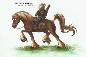 DA2 - Horseback Varric by notationn