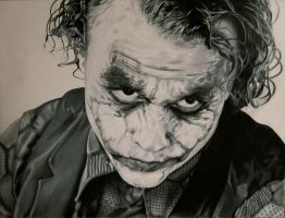 Heath Ledger The Joker by CuriousGeorge43545