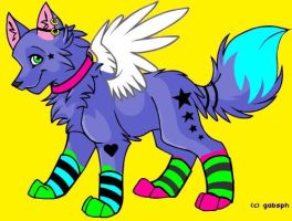 Angel-Star Wolfy by KandyPrower