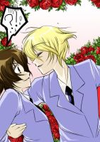 Ouran- Haruhi and Tamaki by shadychan