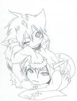 Psyche and Tsugaru-Request by MihaelLawliet