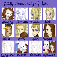 Summary of Art - 2014 by Broodprincess
