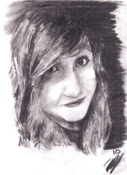 Charcoal Portrait 2 by jezzapandd