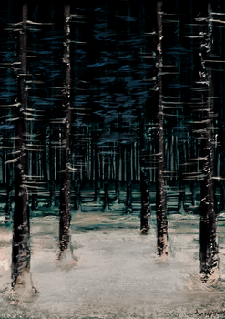 Snowy Forest - Enviornment Study by sanguinarydandy