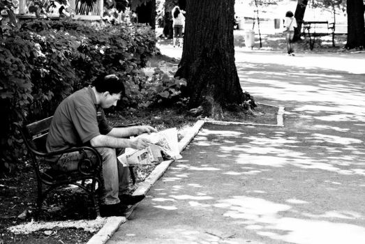 the reader by Photo-Christina