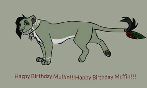 Muffin Bday gifty by naimassparrow101