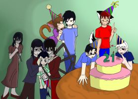 Happy Birthday Artemis And Co. by Freddy-kun