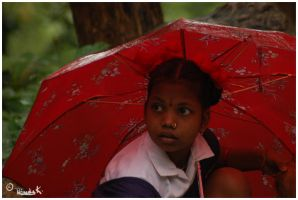 Girl With The Red Umbrella by PistachioSnails
