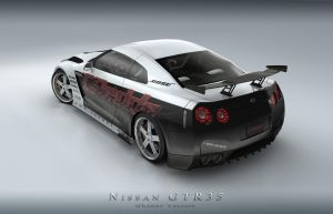 Nissan GTR 35_Back by Saleri
