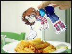 June paper child and pasta by FEuJenny07