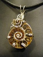 simple fossil pendant by BacktoEarthCreations